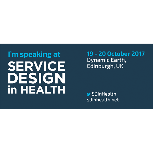 Service Design in Health I'm Speaking at Banner
