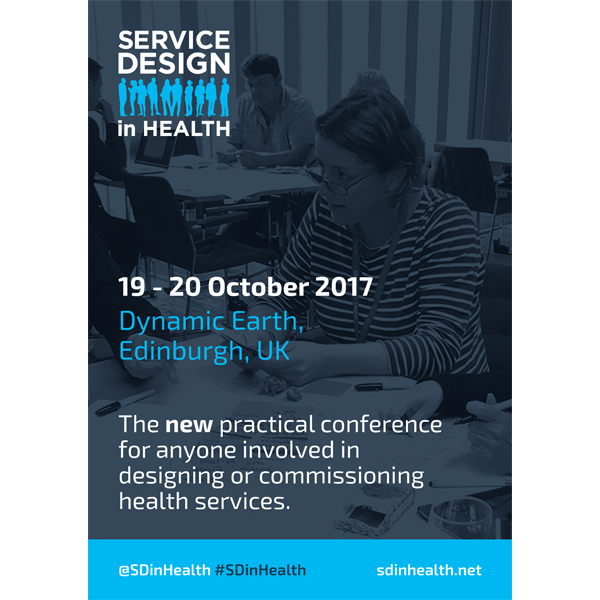 Service Design in Health A3 Promotional Poster
